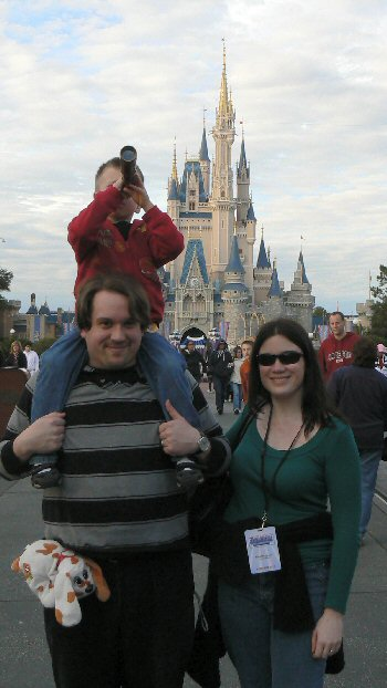 TJ, Tom & Christina in front of Cinderella's Castle