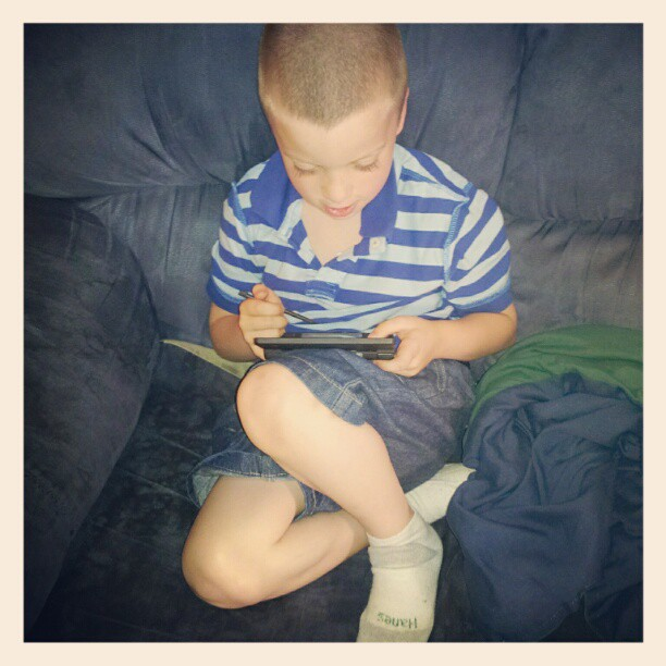 TJ and his Nintendo DS