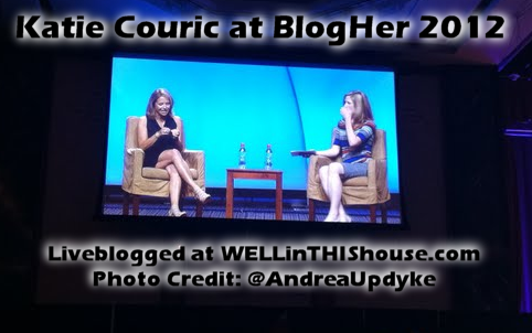 Katie Couric at BlogHer 2012
