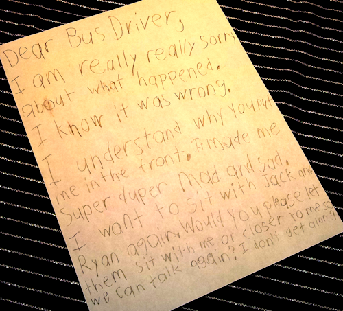 Dear Bus Driver