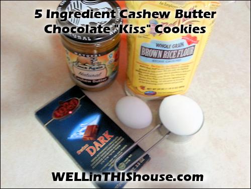 Cashew Butter Chocolate Kiss Cookies