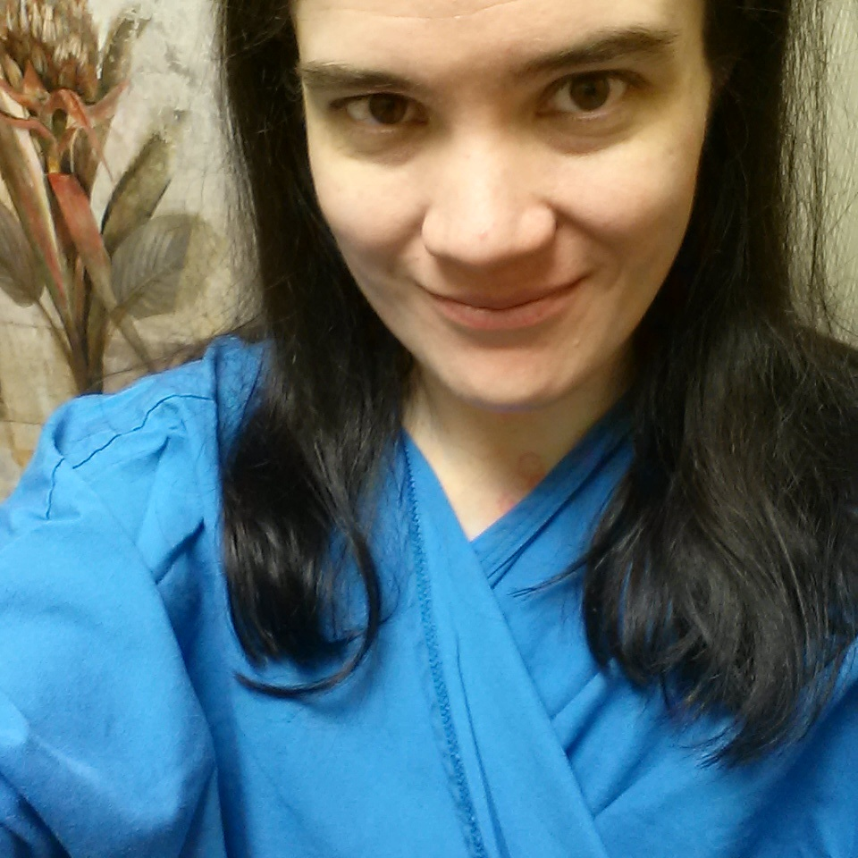 Half-Gown Selfie Before My Biopsy